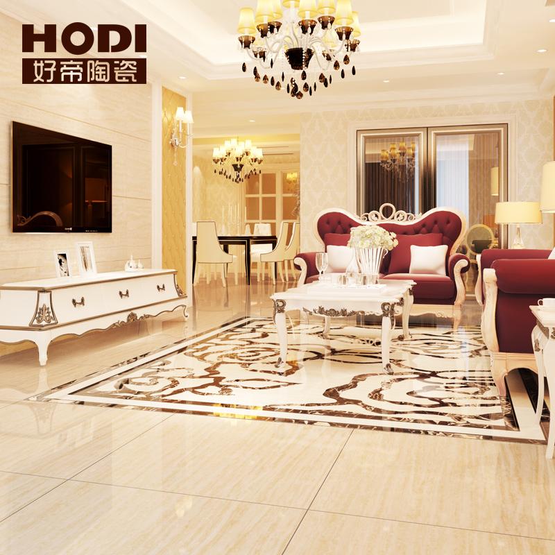 好帝陶瓷 客厅大理石瓷砖地板砖 全抛釉 800x800 600x900 HDLS69005 600x900