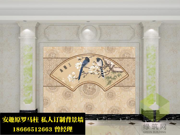 四川阿坝州现代中式彩绘电视墙厂家定制直销