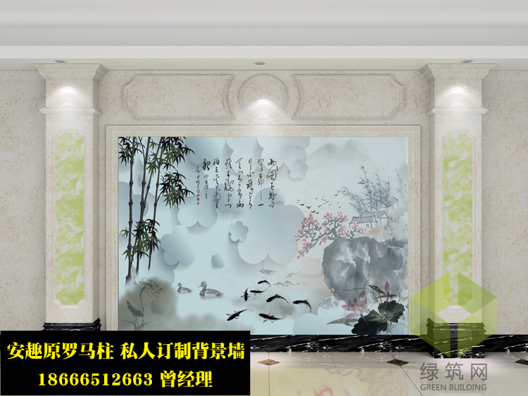江西鹰潭艺术壁画背景墙厂家定制热销