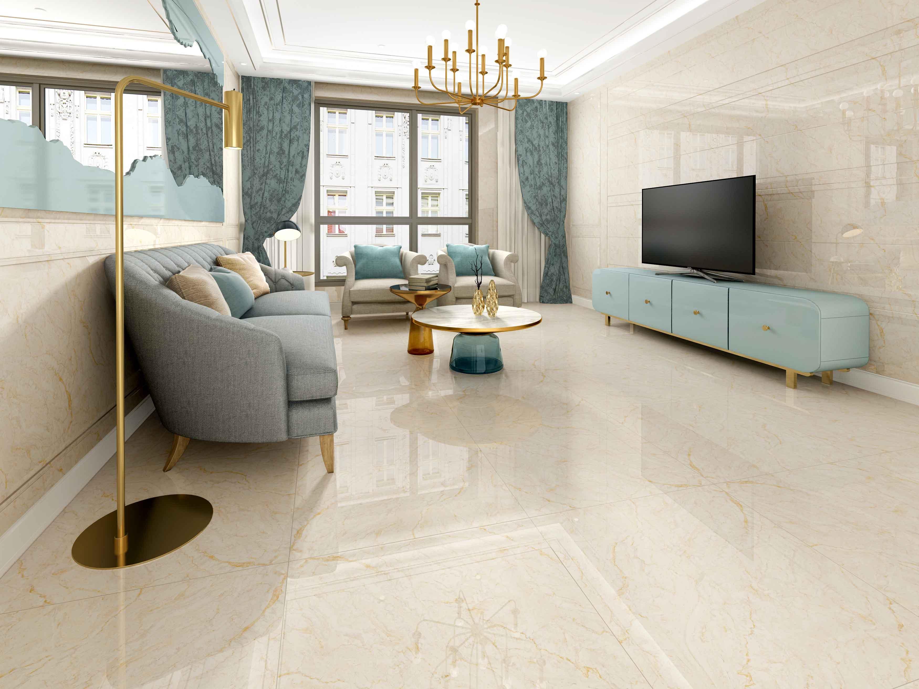 金曼古新品通体大理石瓷砖800*800防滑耐磨客厅地砖