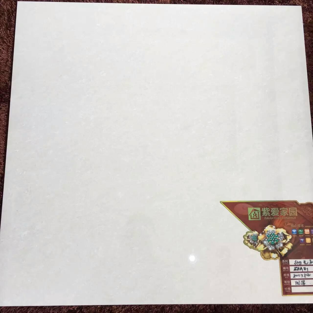 佛山紫爱家园陶瓷厂家大量排产800抛光砖白、黄聚晶、质量优、工程价出